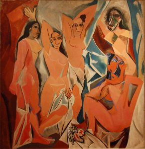 Painting 'Les Demoiselles d'Avignon' made by Pablo Picasso in 1907